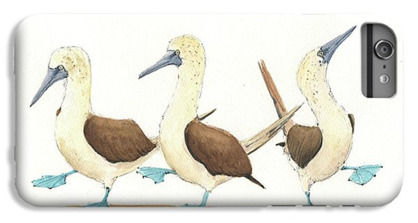 Boobies iPhone 6s Plus Case - Three Blue Footed Boobies by Juan Bosco