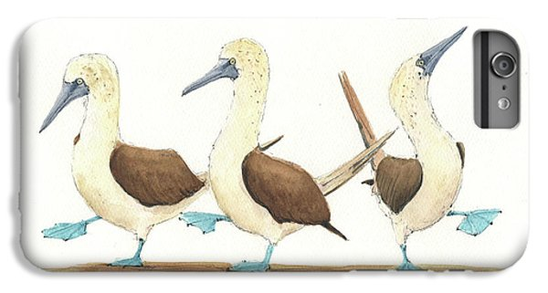 Three Blue Footed Boobies IPhone 6s Plus Case by Juan Bosco