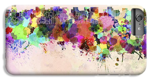 Tokyo Skyline In Watercolor Background IPhone 6s Plus Case by Pablo Romero
