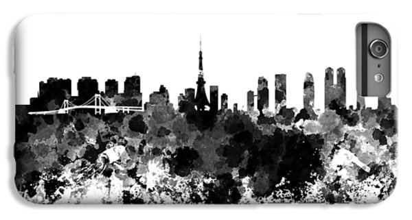 Tokyo Skyline In Watercolor On White Background IPhone 6s Plus Case