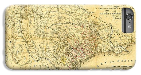 1849 Texas Map IPhone 6s Plus Case