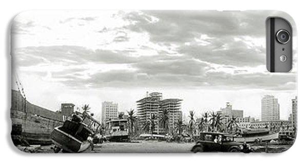 Miami Skyline iPhone 6s Plus Case - 1926 Miami Hurricane  by Jon Neidert