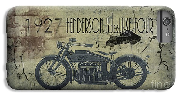 Motorcycle iPhone 6s Plus Case - 1927 Henderson Vintage Motorcycle by Cinema Photography