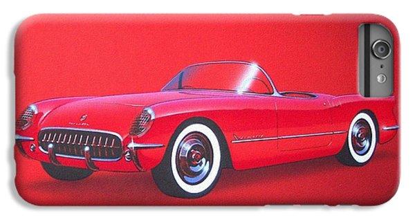 Roadrunner iPhone 6s Plus Case - 1953 Corvette Classic Vintage Sports Car Automotive Art by John Samsen