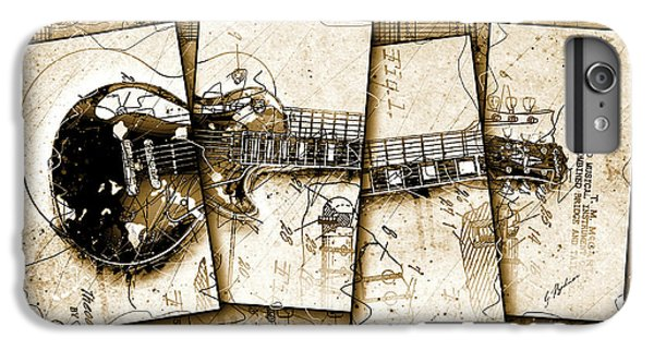 Van Halen iPhone 6s Plus Case - 1955 Les Paul Custom Quadtych by Gary Bodnar