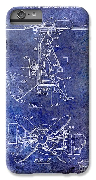1956 Helicopter Patent Blue IPhone 6s Plus Case by Jon Neidert