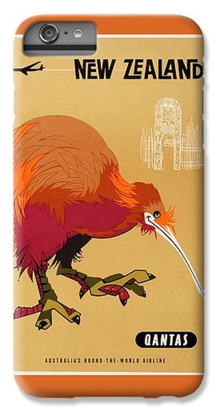 Kiwi iPhone 6s Plus Case - 1960 Qantas New Zealand Kiwi Travel Poster by Retro Graphics