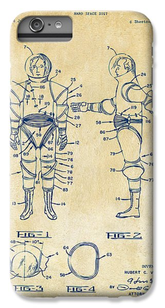1968 Hard Space Suit Patent Artwork - Vintage IPhone 6s Plus Case by Nikki Marie Smith