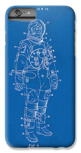 1973 Astronaut Space Suit Patent Artwork - Blueprint IPhone 6s Plus Case by Nikki Marie Smith