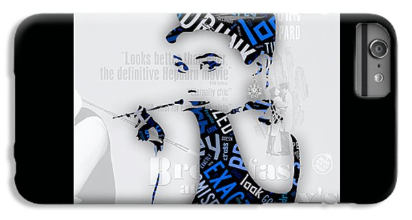 Audrey Hepburn Breakfast At Tiffany's Quotes IPhone 6s Plus Case by Marvin Blaine