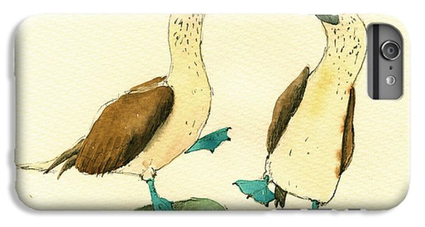 Blue Footed Boobies IPhone 6s Plus Case by Juan  Bosco