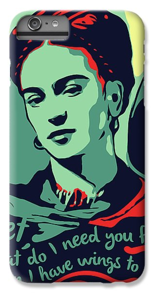 Folk Art iPhone 6s Plus Case - Frida Kahlo by Greatom London