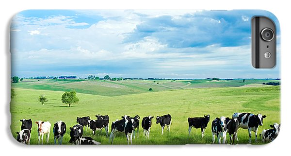 Cow iPhone 6s Plus Case - Happy Cows by Todd Klassy