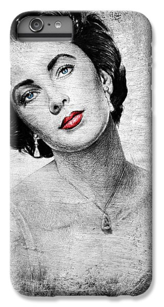 Liz Taylor iPhone 6s Plus Case - Hollywood Greats Elizabeth Taylor by Andrew Read