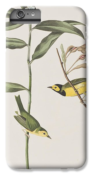 Hooded Warbler  IPhone 6s Plus Case by John James Audubon