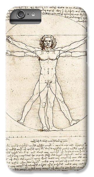 Nudes iPhone 6s Plus Case - The Proportions Of The Human Figure by Leonardo Da Vinci
