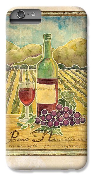 Vineyard Pinot Noir Grapes N Wine - Batik Style IPhone 6s Plus Case
