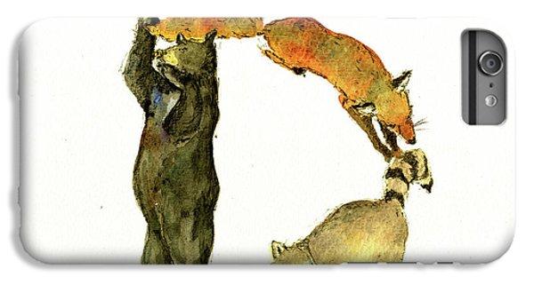 Squirrel iPhone 6s Plus Case - Animal Letter by Juan Bosco