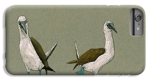 Boobies iPhone 6s Plus Case - Blue Footed Boobies by Juan  Bosco