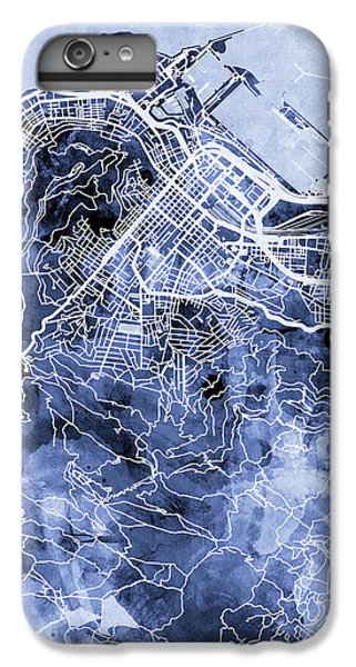 Town iPhone 6s Plus Case - Cape Town South Africa City Street Map by Michael Tompsett