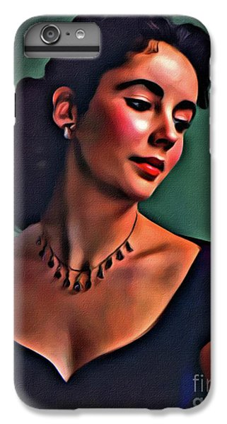 Elizabeth Taylor, Vintage Hollywood Legend By Mary Bassett IPhone 6s Plus Case by Mary Bassett