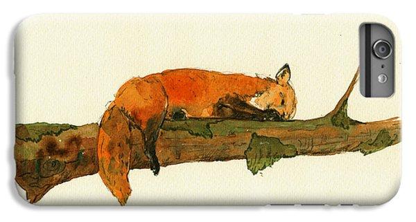 Fox Sleeping Painting IPhone 6s Plus Case