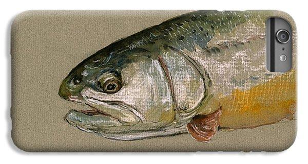 Trout iPhone 6s Plus Case - Trout Watercolor Painting by Juan  Bosco