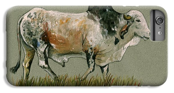 Zebu Cattle Art Painting IPhone 6s Plus Case by Juan  Bosco