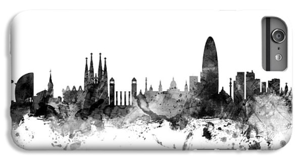 Barcelona iPhone 6s Plus Case - Barcelona Spain Skyline by Michael Tompsett