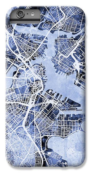 Boston Massachusetts Street Map IPhone 6s Plus Case by Michael Tompsett