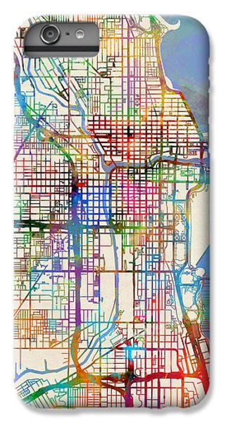 Chicago City Street Map IPhone 6s Plus Case