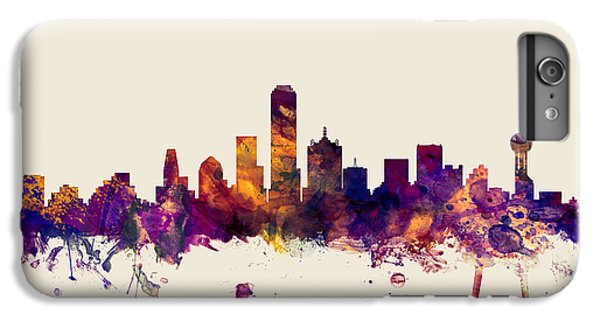 Dallas Skyline iPhone 6s Plus Case - Dallas Texas Skyline by Michael Tompsett