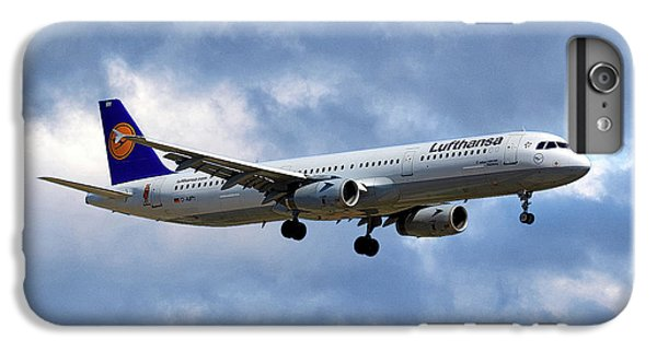 Jet iPhone 6s Plus Case - Lufthansa Airbus A321-131 by Smart Aviation
