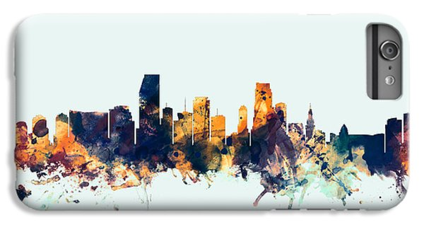 Miami Florida Skyline IPhone 6s Plus Case by Michael Tompsett