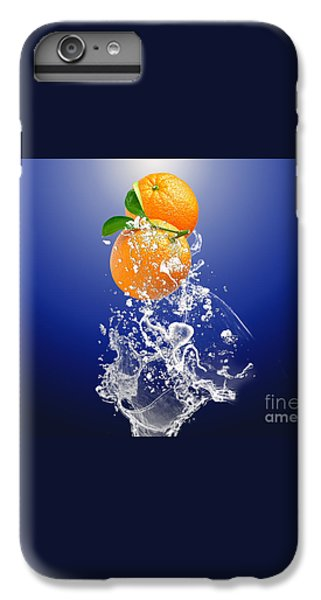 IPhone 6s Plus Case featuring the mixed media Orange Splash by Marvin Blaine
