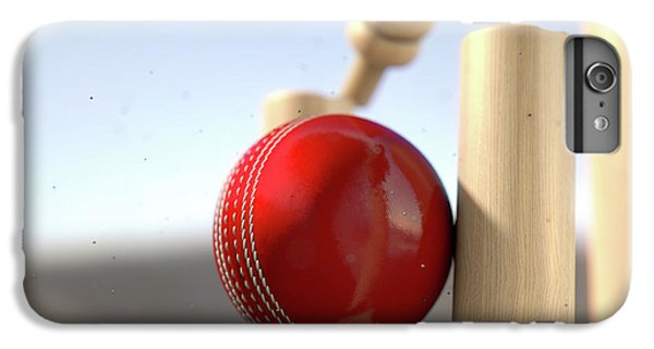 Cricket Ball Hitting Wickets IPhone 6s Plus Case by Allan Swart