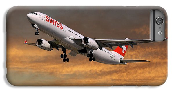 Jet iPhone 6s Plus Case - Swiss Airbus A330-343 by Smart Aviation