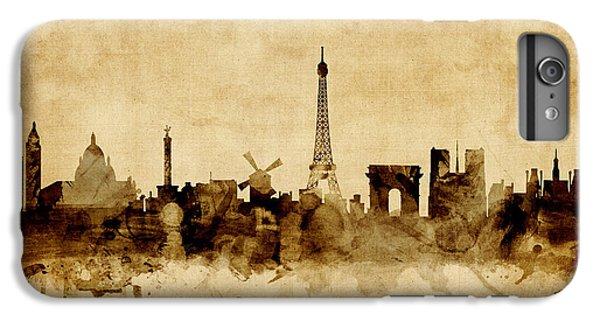 Eiffel Tower iPhone 6s Plus Case - Paris France Skyline by Michael Tompsett