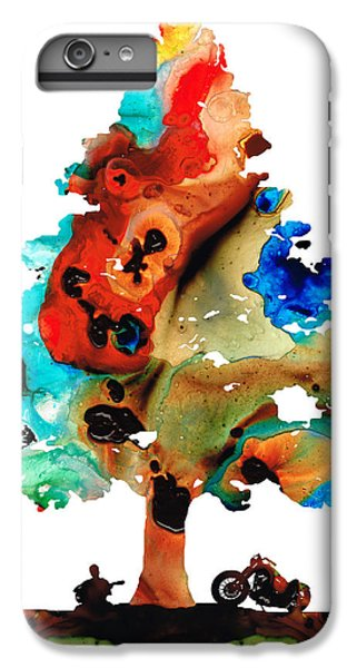 A Certain Kind Of Freedom - Guitar Motorcycle Art Print IPhone 6s Plus Case by Sharon Cummings