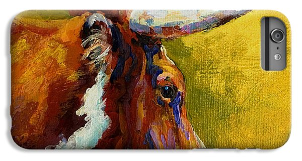 Cow iPhone 6s Plus Case - A Couple Of Pointers - Longhorn Steer by Marion Rose