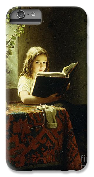 A Girl Reading IPhone 6s Plus Case by Johann Georg Meyer