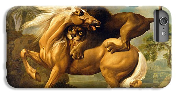 A Lion Attacking A Horse IPhone 6s Plus Case by George Stubbs