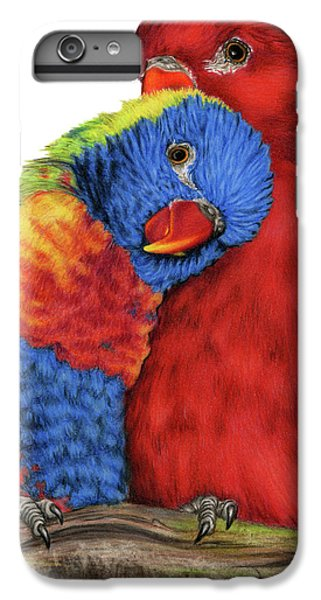 Parakeet iPhone 6s Plus Case - Love Will Keep Us Together by Sarah Batalka