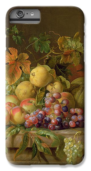 Still Life iPhone 6s Plus Case - A Still Life Of Melons Grapes And Peaches On A Ledge by Jakob Bogdani