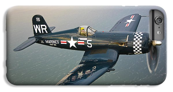Airplane iPhone 6s Plus Case - A Vought F4u-5 Corsair In Flight by Scott Germain
