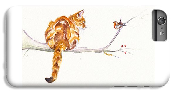 Cat iPhone 6s Plus Case - A Winter Meeting by Debra Hall