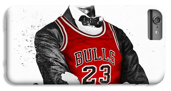 University Of Illinois iPhone 6s Plus Case - Abe Lincoln In A Michael Jordan Chicago Bulls Jersey by Rolyo