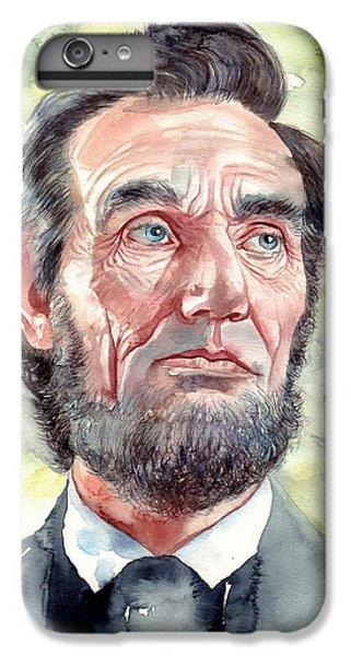 Abraham Lincoln iPhone 6s Plus Case - Abraham Lincoln Portrait by Suzann's Art