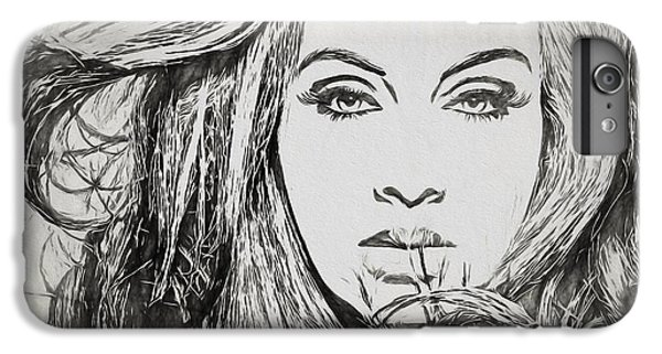 Adele Charcoal Sketch IPhone 6s Plus Case by Dan Sproul
