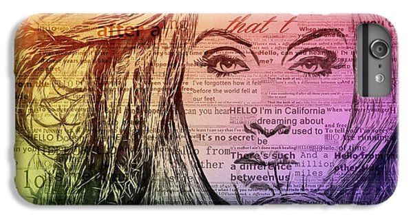 Adele Hello Typography  IPhone 6s Plus Case by Dan Sproul